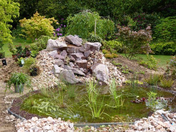 cr ation d 39 un bassin naturel dans la r gion de dieppe 76200 jardinier paysagiste seine. Black Bedroom Furniture Sets. Home Design Ideas