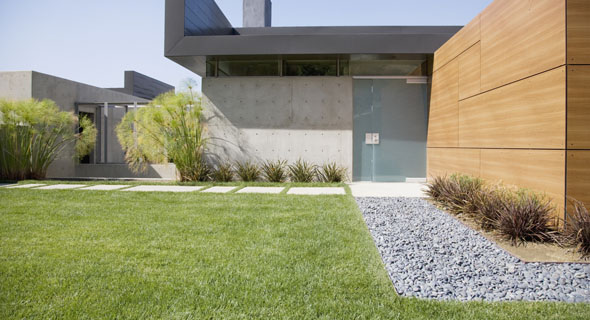 Cr ation de jardin moderne et zen sur rouen dieppe bohin for Jardin moderne contemporain