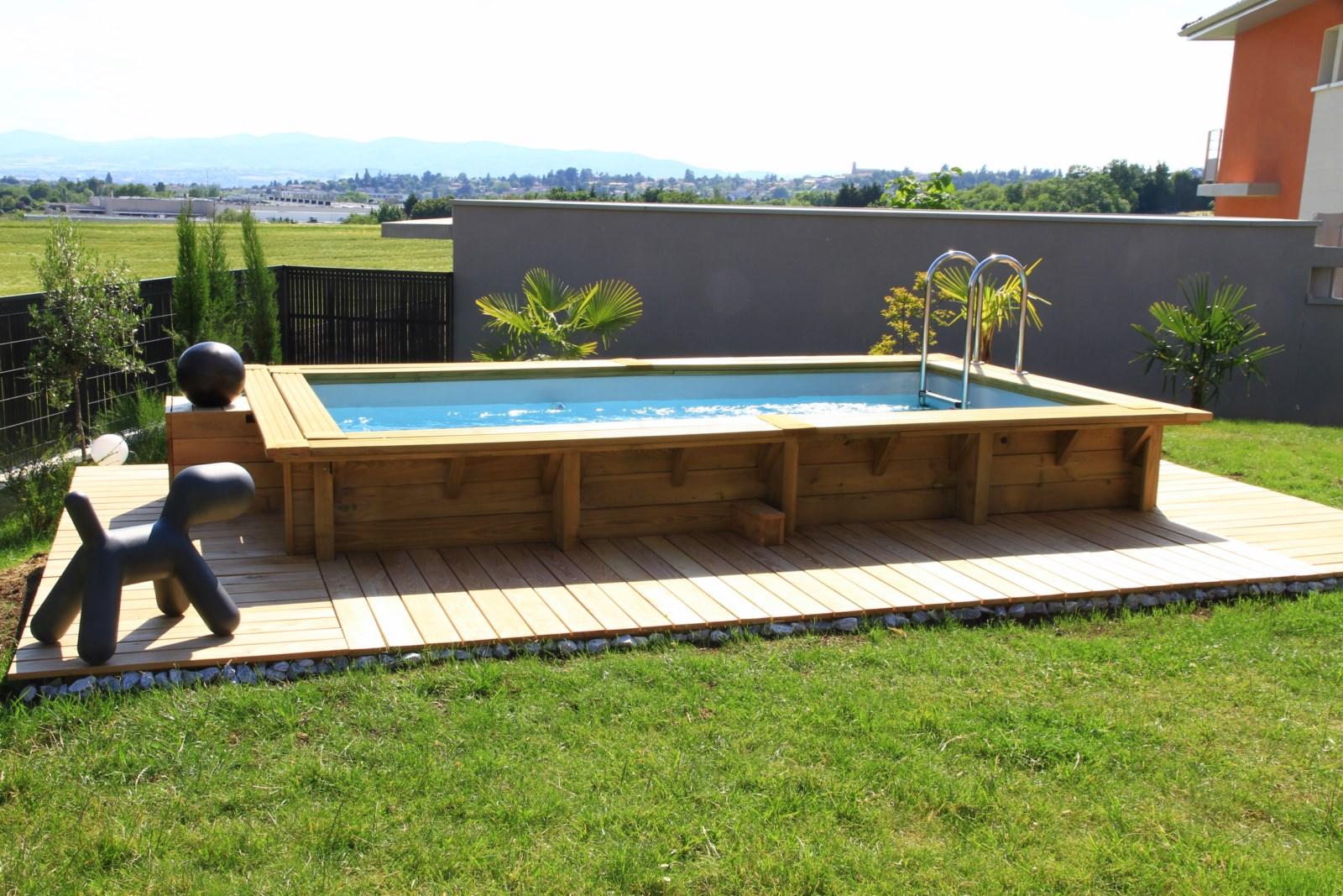 Mini piscine hors sol bois mini piscine en bois avec for Conteneur reunion tarif